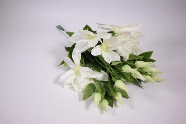 искусственные растения - клематис белый 45см(12шт в уп) sun444