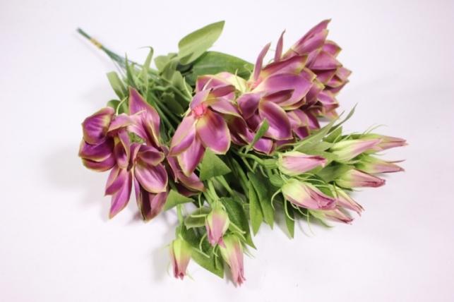 Искусственные растения - Клематис фиолетовый 45см(12шт в уп) SUN444
