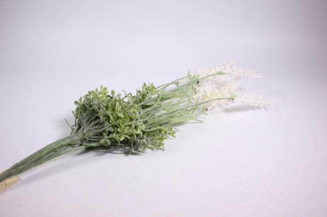 искусственные растения - лаванда белая 40см  gab102 (код 4285)