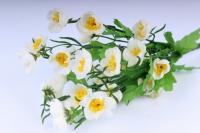Искусственные растения - Лютики букет 33см белый