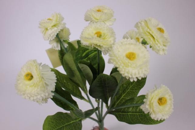 искусственные растения - маргариткаяркаякремоваябукет30см