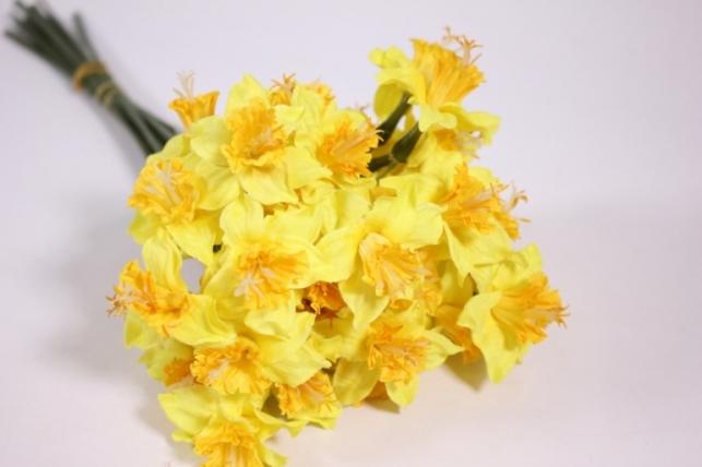 искусственные растения - нарцисс 45см жёлтый (12шт в уп) liu258