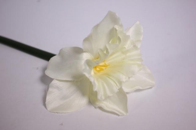 искусственные растения - нарцисс 55см белый (sun410)