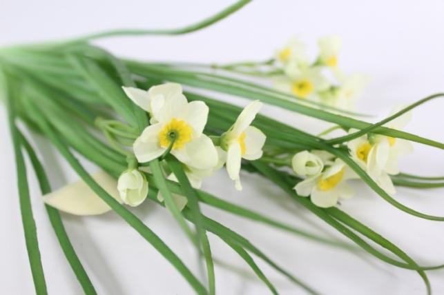 Искусственные растения - Нарцисс букет 40см шампань
