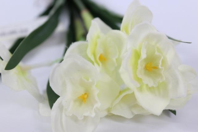 искусственные растения - нарцисс растение 33см белый