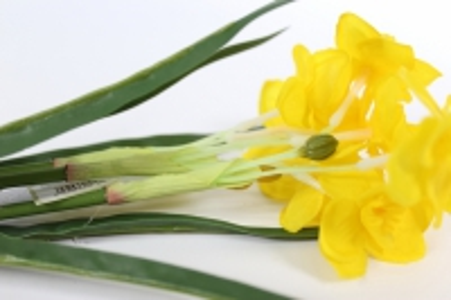 искусственные растения - нарцисс растение 33см желтый