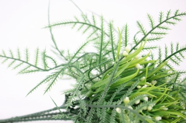 искусственные растения - папортник с белыми ягодами 30см (5шт в уп) - код gay290 3410