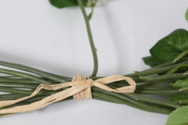 искусственные растения - роза 44см белая 12шт в уп)
