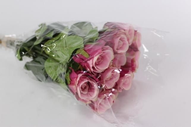 искусственные растения - роза 44см сиреневая(12шт в уп)