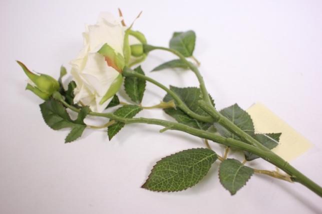 искусственные растения - роза 55см белый sun425