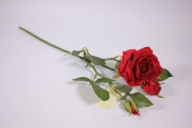 искусственные растения - роза 55см красная sun425
