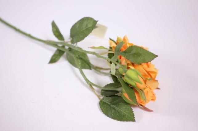 искусственные растения - роза 55см оранж sun425