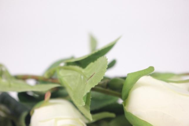 искусственные растения - роза бутон белая
