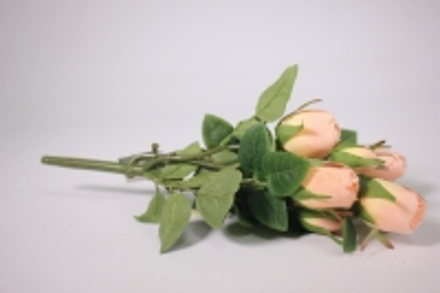 искусственные растения - роза бутон персиковая