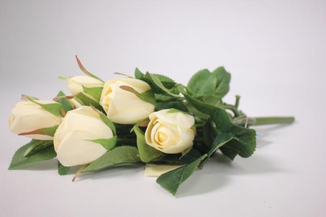 искусственные растения - роза бутон шампань