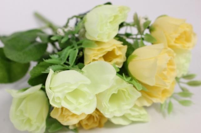 искусственные растения - роза бутоны с гипсофилой шампань l=35см 18460-4