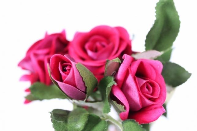 искусственные растения - роза ветка 41см малиновая