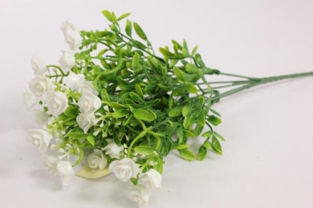 Искусственные растения - Розочки белые L=35см