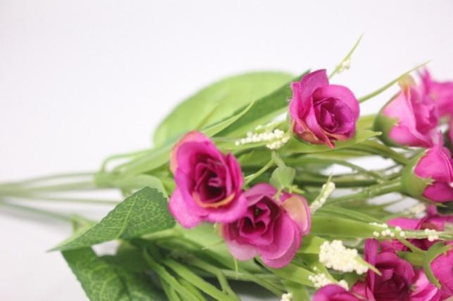 искусственные растения - розочки фуксия 30 см