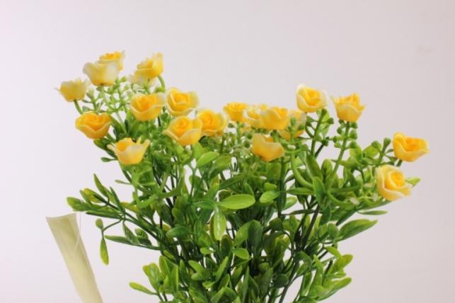 искусственные растения - розочки желтые l=35см 18459-5