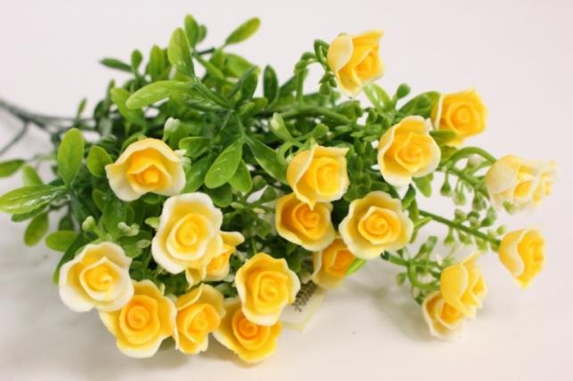 Искусственные растения - Розочки желтые L=35см