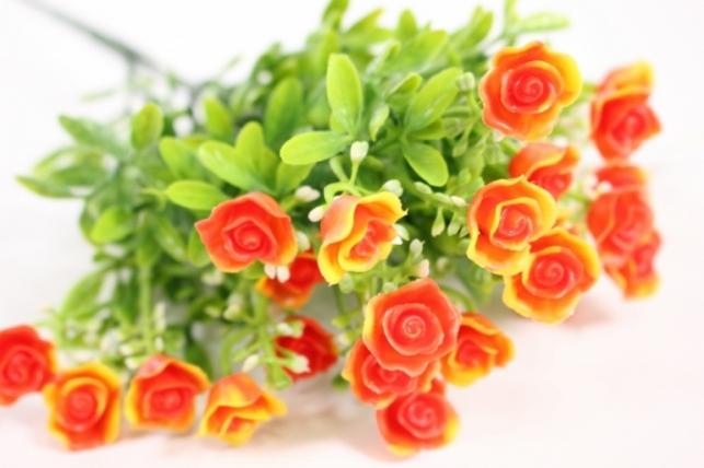Искусственные растения - Розочки оранжевые L=35см
