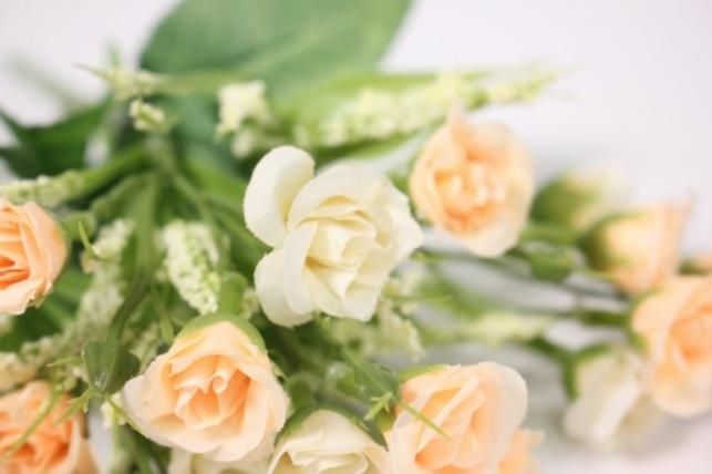 искусственные растения - розочки персиковые 30 см