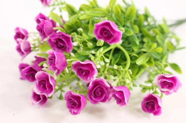 Искусственные растения - Розочки пурпурные L=35см