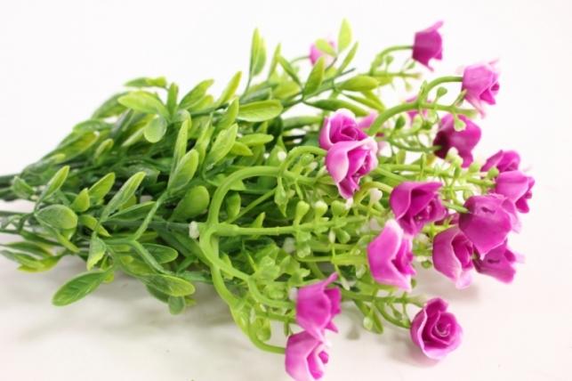 искусственные растения - розочки пурпурные l=35см 18459-6