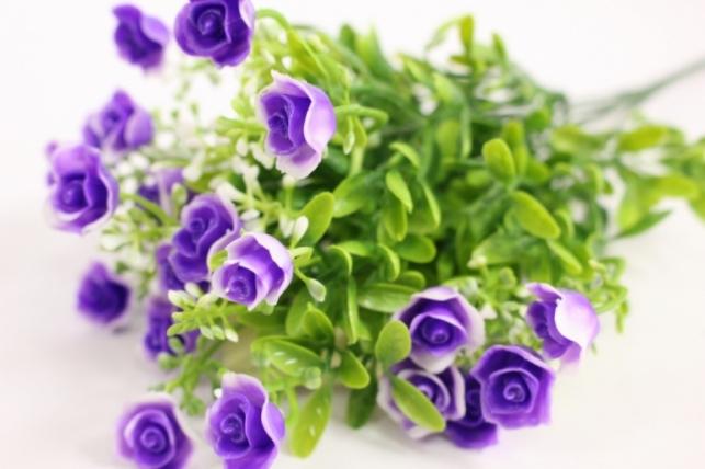 Искусственные растения - Розочки сиреневые L=35см