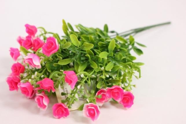 Искусственные растения - Розочки ярко-розовые L=35см