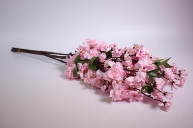 Искусственные растения - Сакура ветка 65см светло-розовая (6шт в уп) SUN416