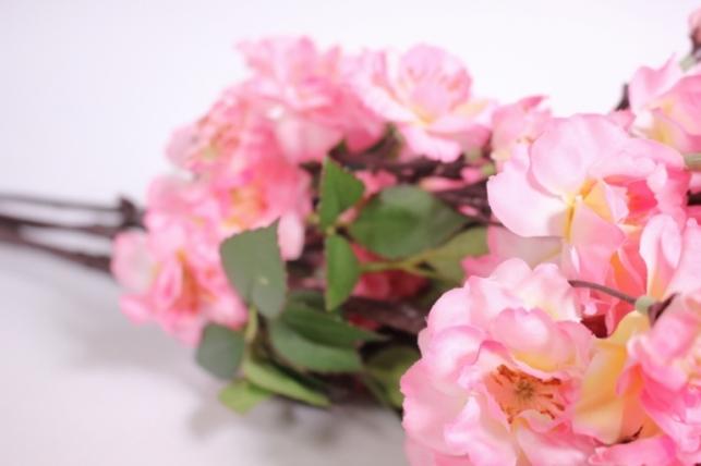 искусственные растения - сакура ветка 65см ярко-розовая (6шт в уп) sun416