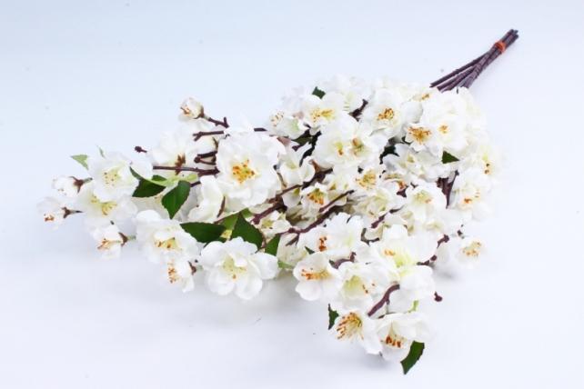 Искусственные растения - Сакура ветка 65см белая (6шт в уп) SUN416