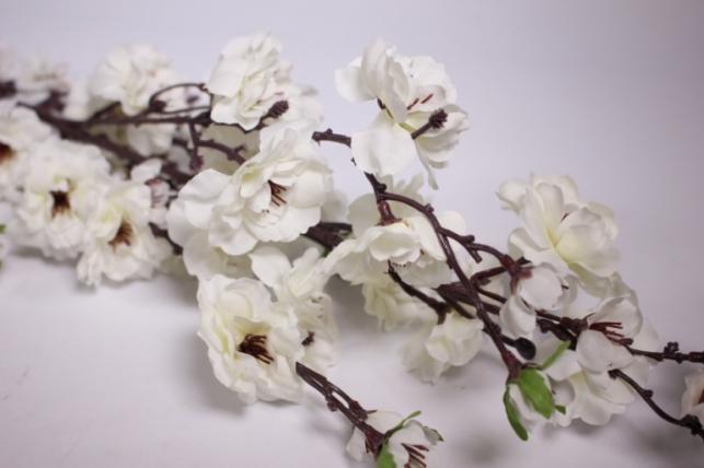 искусственные растения - сакуры ветка 100см белая sun101