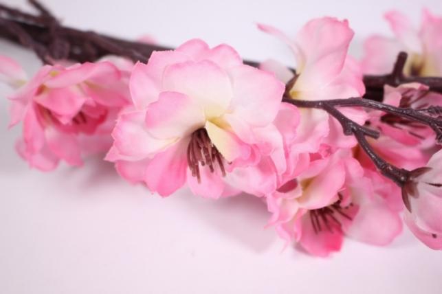 искусственные растения - сакуры ветка 100см ярко-розовая sun101
