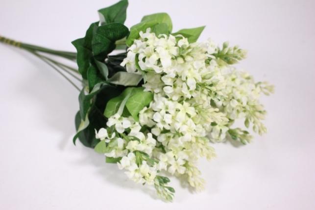 Искусственные растения - Сирень 45см (12шт в уп) белая LIU201