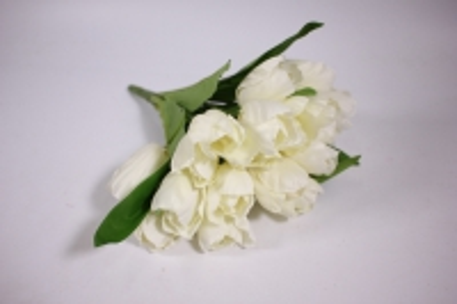 искусственные растения - тюльпан 35см белый zliu203