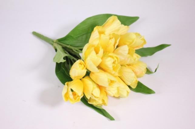Искусственные растения - Тюльпан 35см желтый ZLIU203