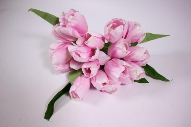 Искусственные растения - Тюльпан 35см розовый  ZLIU203