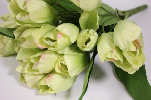 искусственные растения - тюльпан 35см салатовый  zliu203
