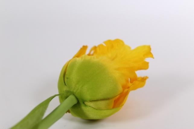 искусственные растения - тюльпан 45см желтый