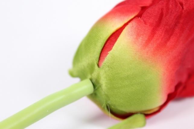искусственные растения - тюльпан 45см красный