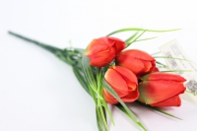 Искусственные растения - Тюльпан букет 27см красный