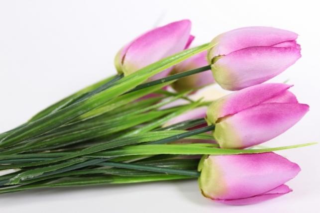 искусственные растения - тюльпан букет 27см сиреневый