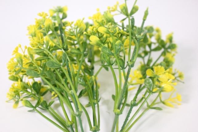 искусственные растения - ветка декоративная желтая 32см