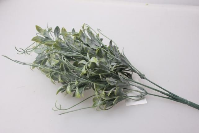 искусственные растения - ветка декоративная с завитком белый