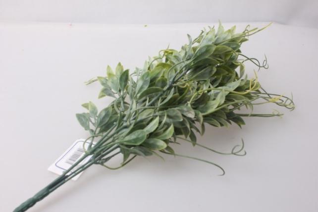 искусственные растения - ветка декоративная с завитком желтый