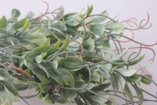 искусственные растения - ветка декоративная с завитком красный