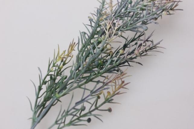 искусственные растения - ветка декоративная зелено-сиреневая 0590